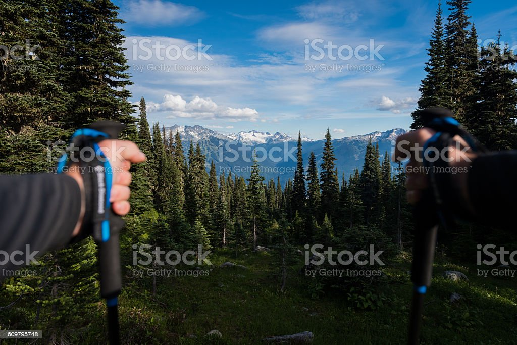 POV Hiking stock photo