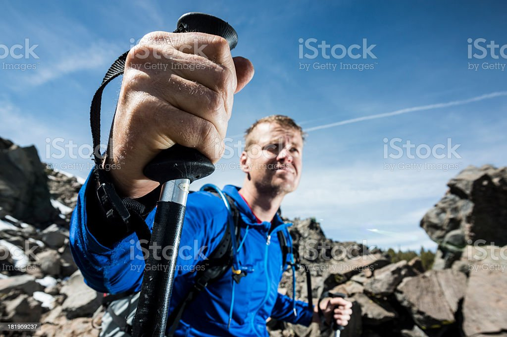 hiking pole royalty-free stock photo