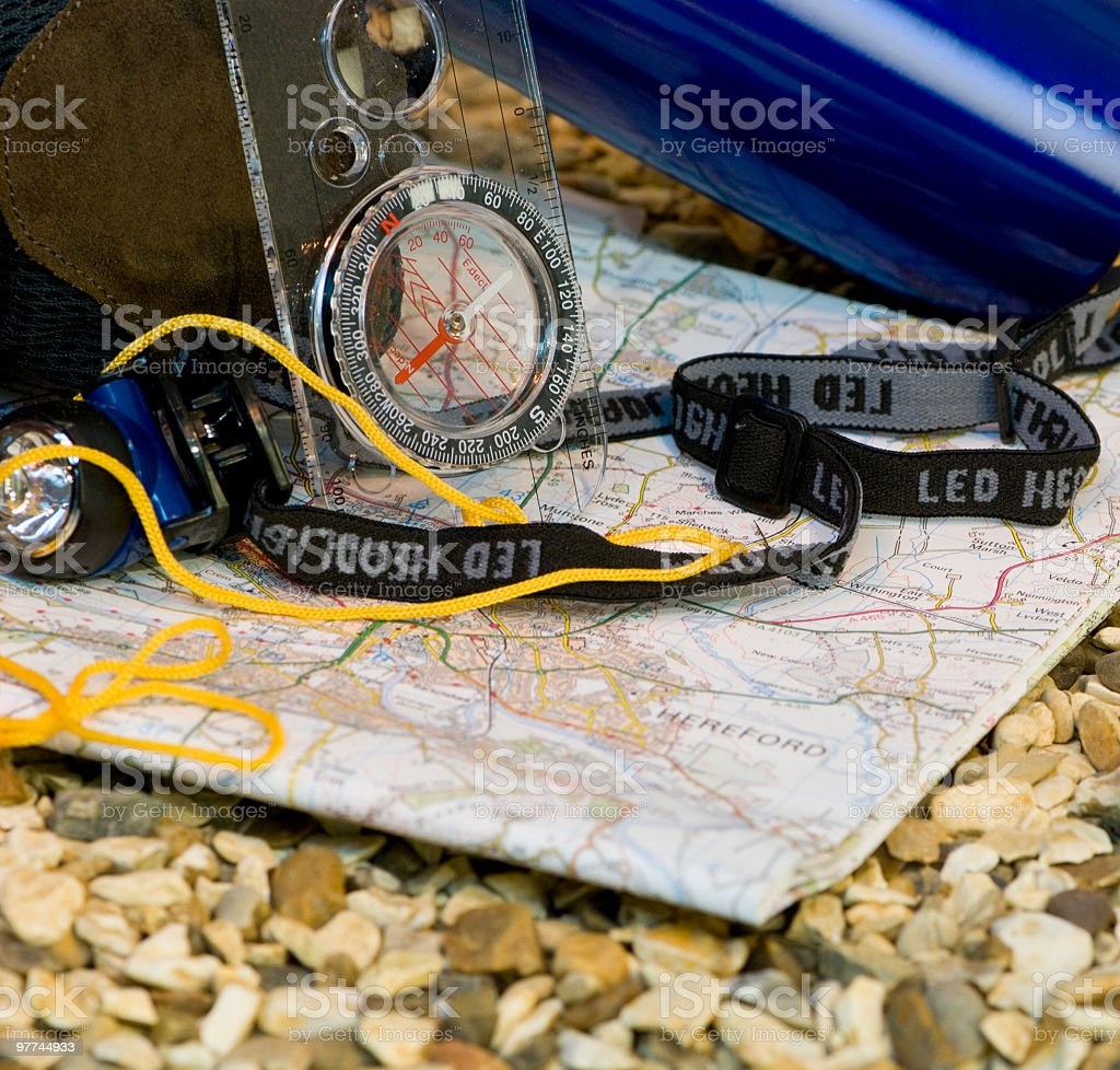 Hiking props royalty-free stock photo