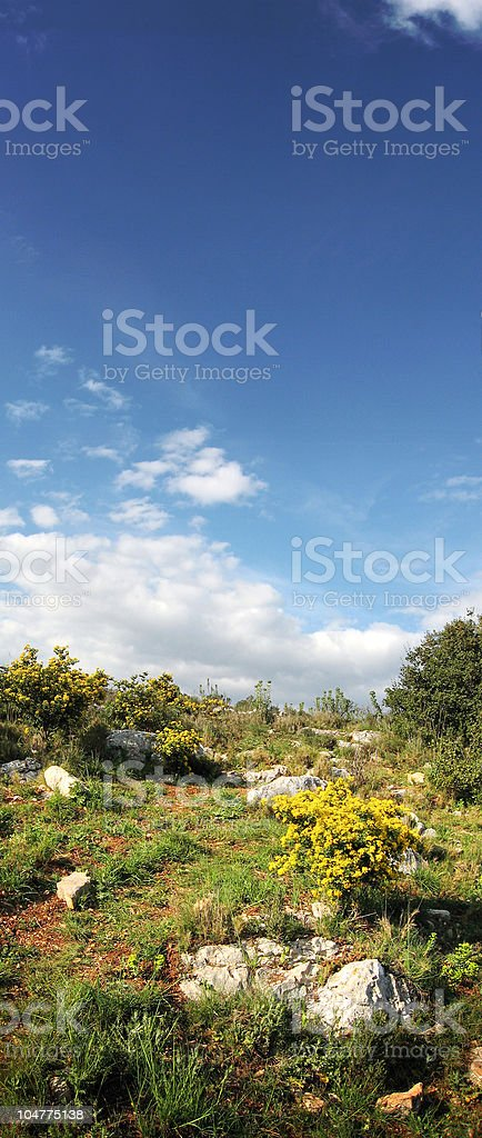 Hiking scenic royalty-free stock photo