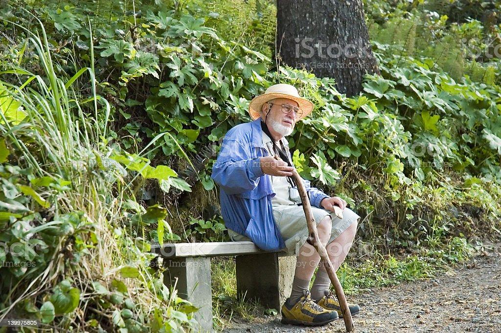 hiking senior royalty-free stock photo