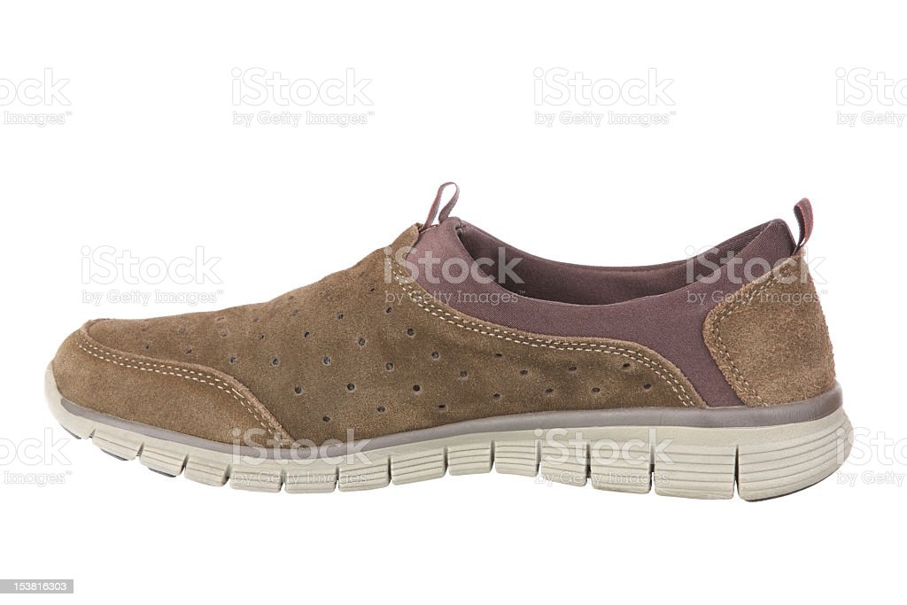 Hiking shoe on white background royalty-free stock photo