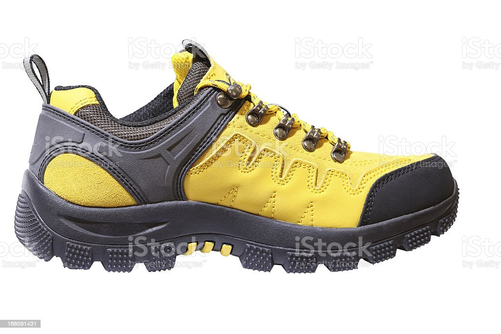 Hiking shoes on white background royalty-free stock photo