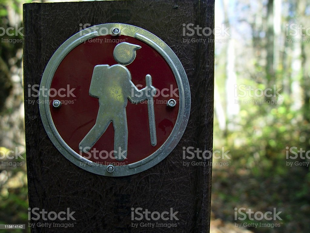 Hiking Sign royalty-free stock photo