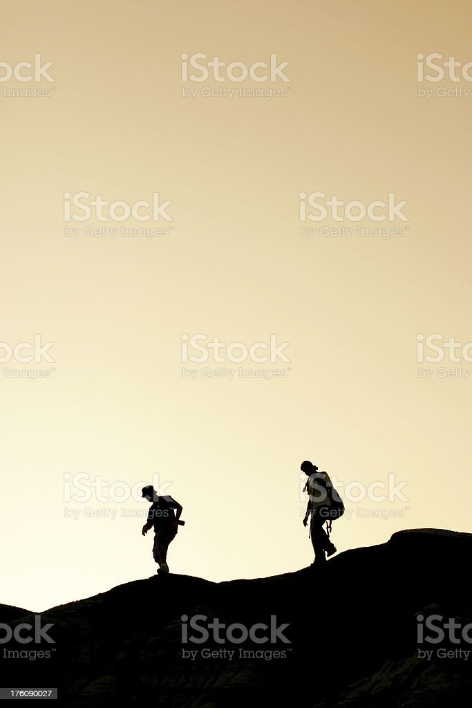 Hiking Silhouette royalty-free stock photo