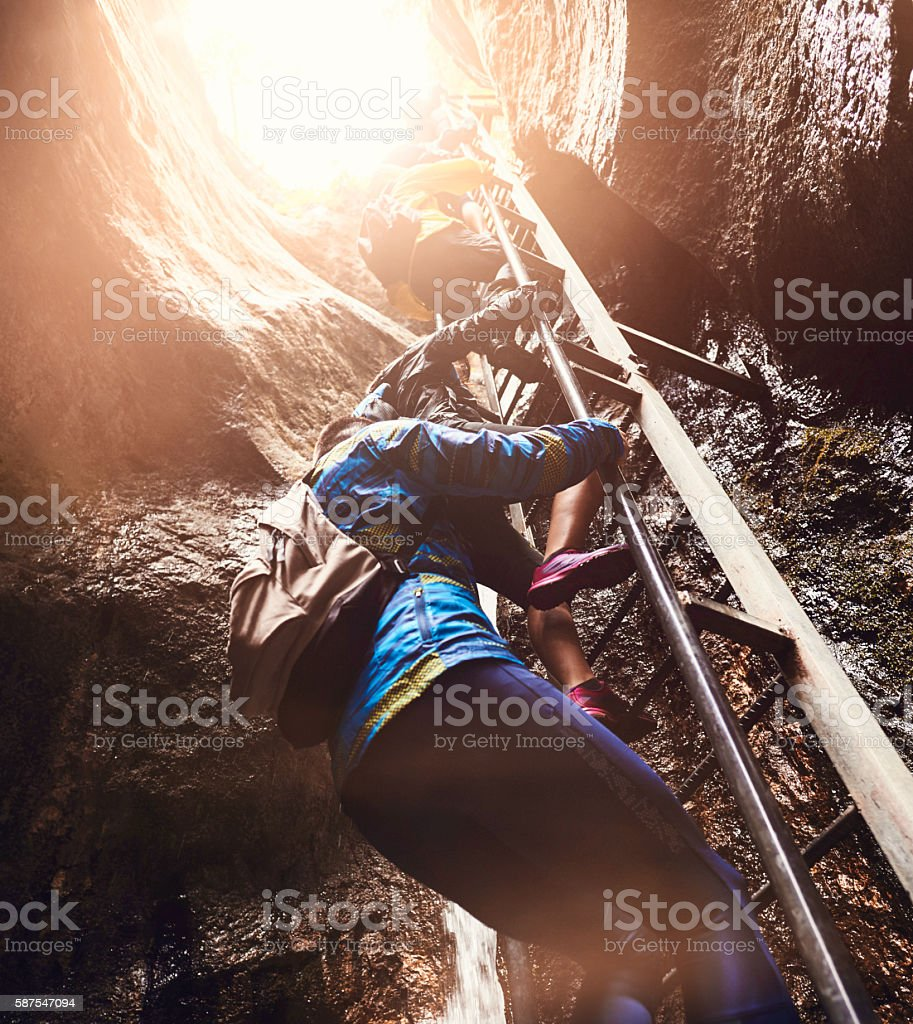 hiking stairs stock photo