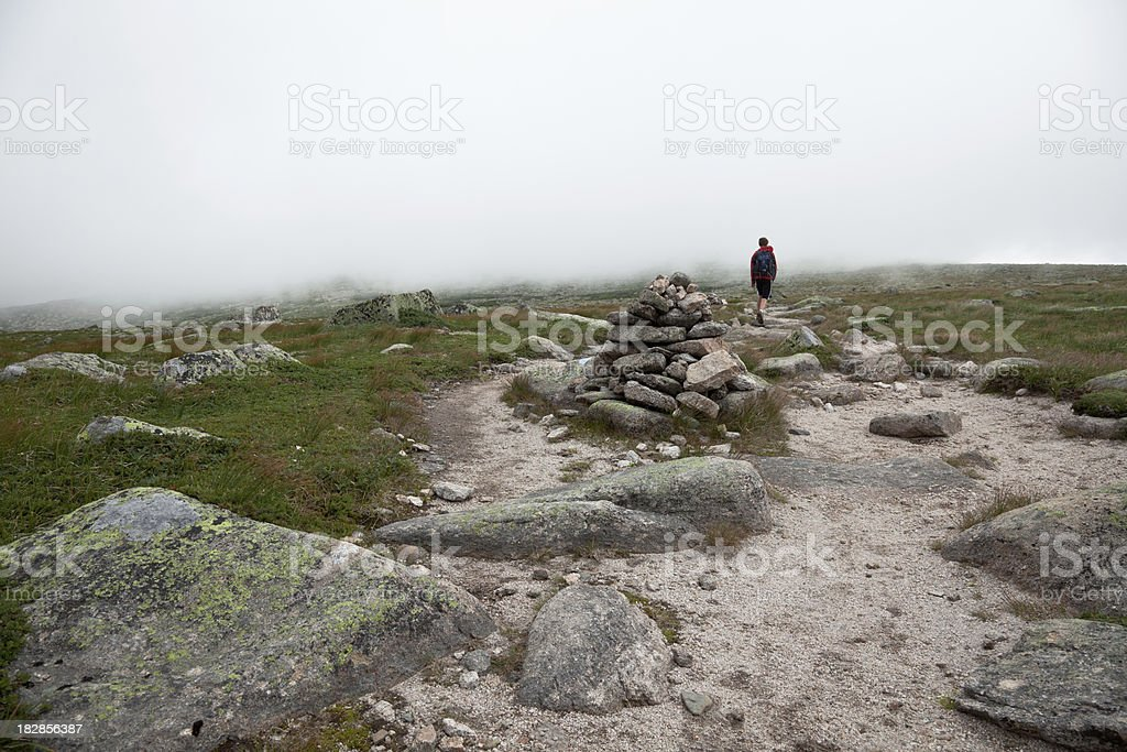 Hiking the Abol trail Mt. Katahdin, Maine stock photo