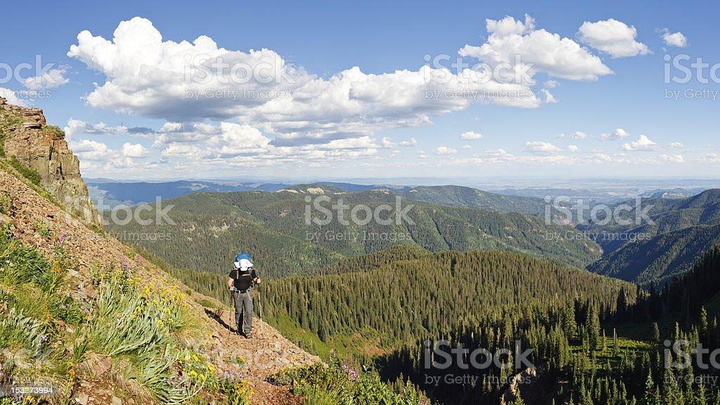 Hiking the Colorado Trail stock photo
