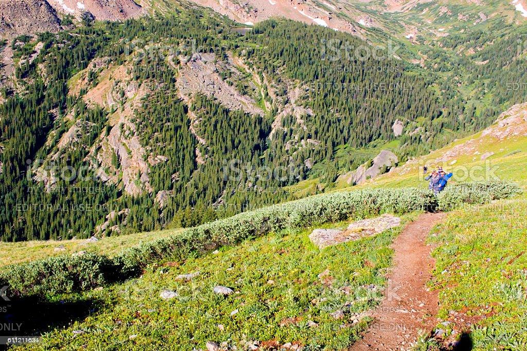 Hiking the Mount Massive Summit stock photo