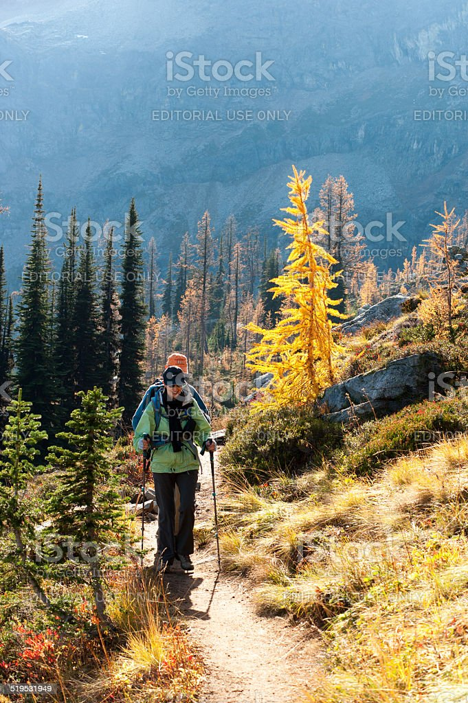 Hiking the North Cascades royalty-free stock photo