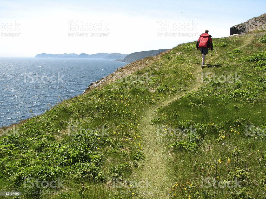 Hiking the Skerwink Trail stock photo