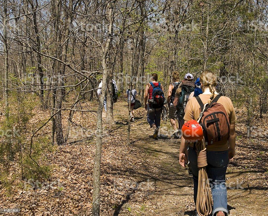 Wandern und Klettern Lizenzfreies stock-foto
