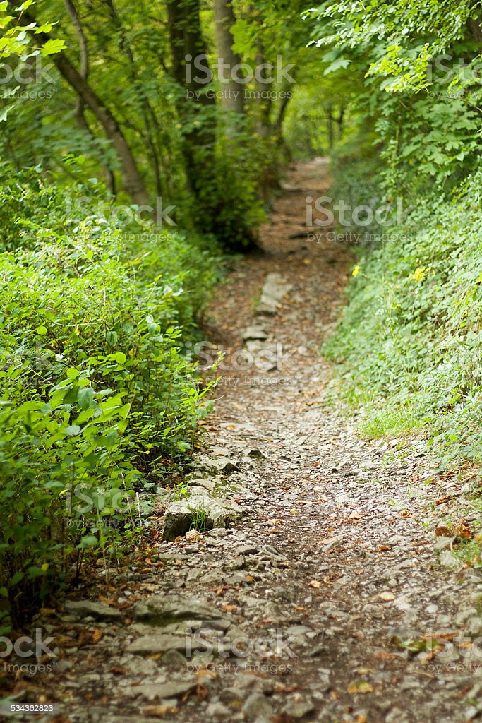 Hiking trail, Dinant stock photo