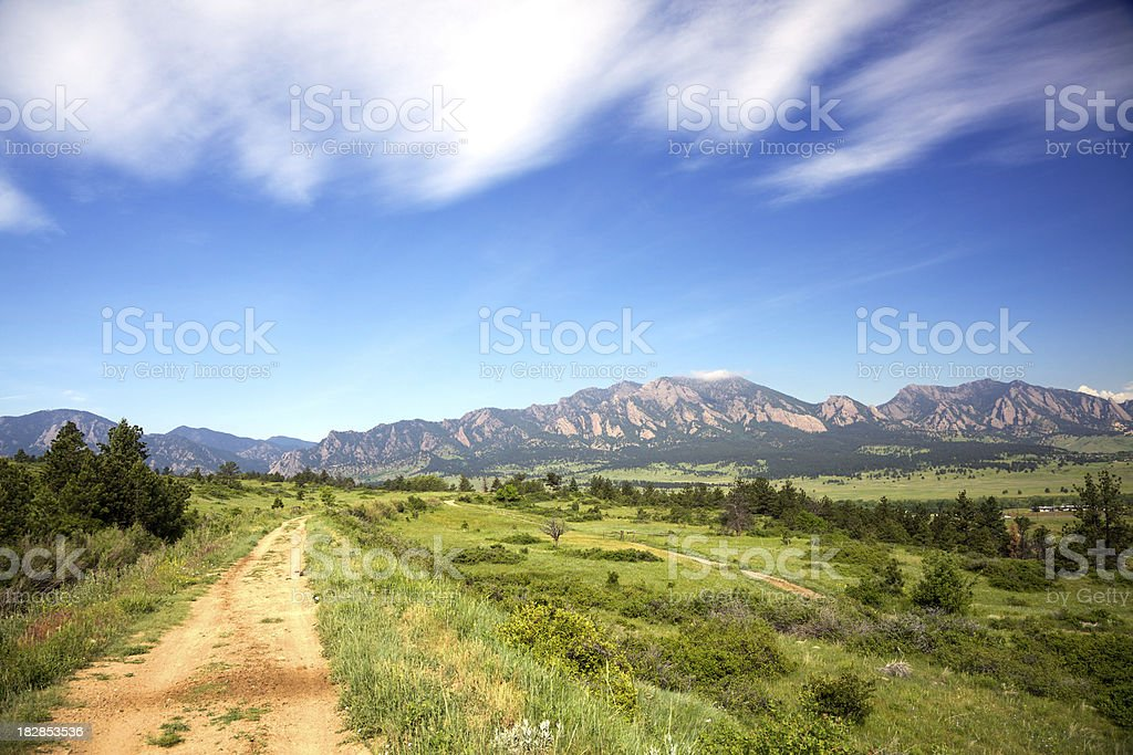 Hiking trail in Boulder Colorado royalty-free stock photo