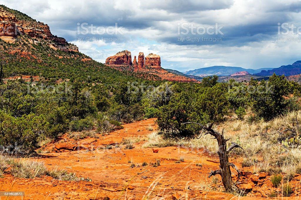 Hiking Trail in Sedona, Arizona, USA stock photo