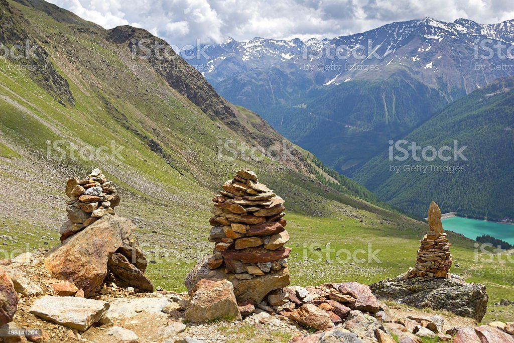 Hiking Trail in the Valley stock photo
