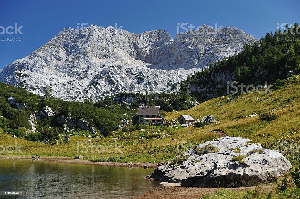 Hiking Trail leading to the Pühringer Hütte - Austrian Alps royalty-free stock photo
