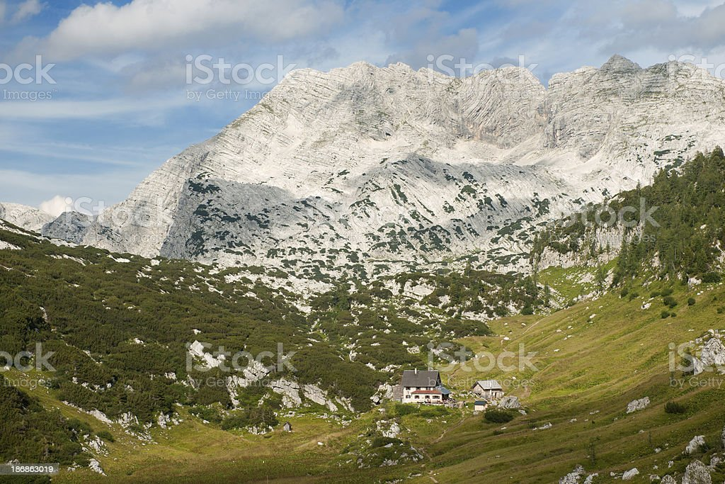 Hiking Trail leading to the Pühringer Hütte - Austrian Alps royalty-free stock photo
