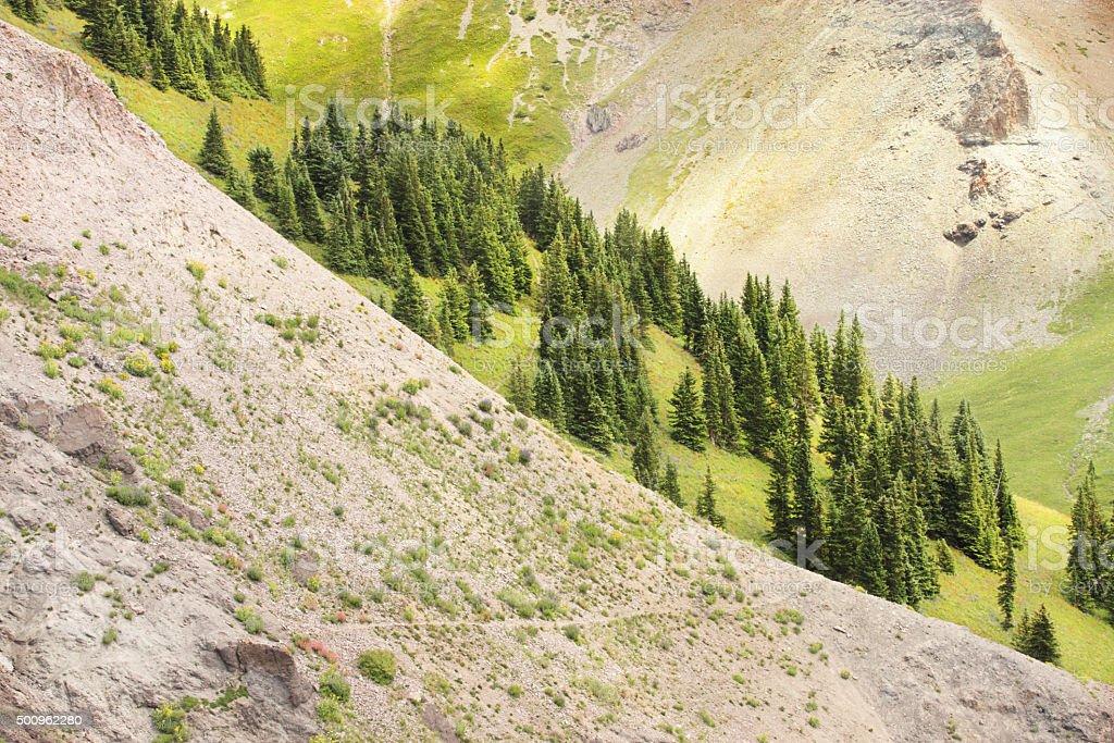 Hiking Trail Mountain Wilderness Colorado stock photo