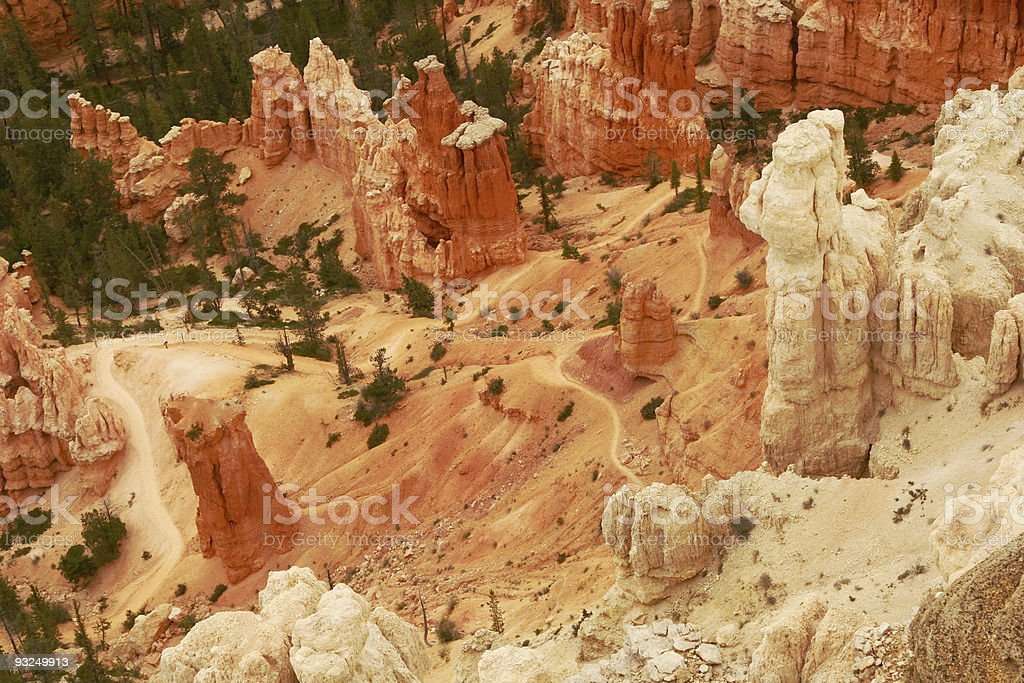 Hiking Trails in Bryce Canyon National Park stock photo
