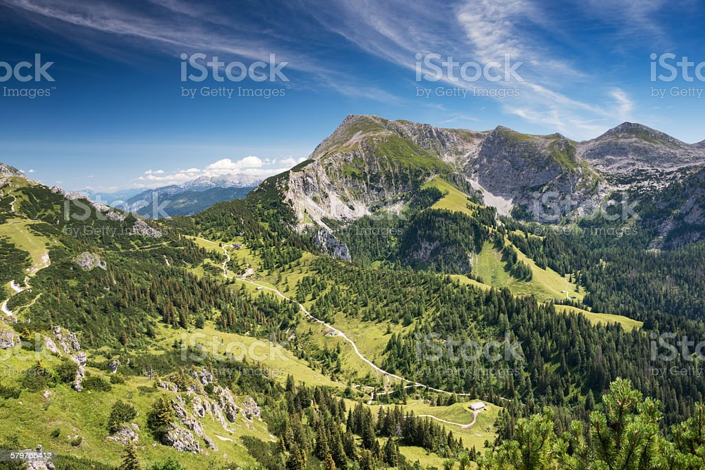 Hiking Trails, Königssee, Jenner, Berchtesgaden stock photo