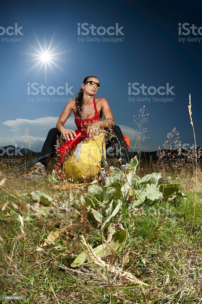 Hiking Trial royalty-free stock photo