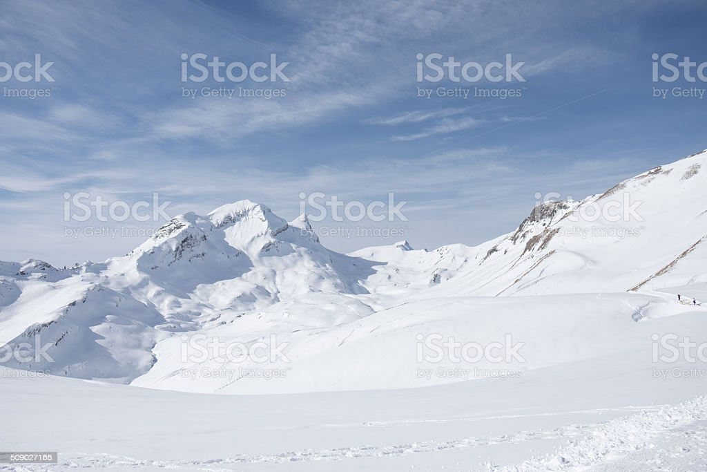 Hiking up to the Faulhorn, Grindelwald stock photo