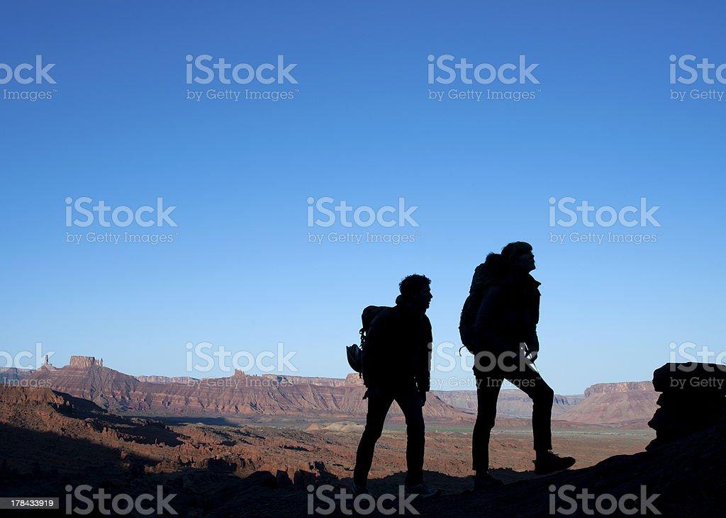 Hiking Utah royalty-free stock photo