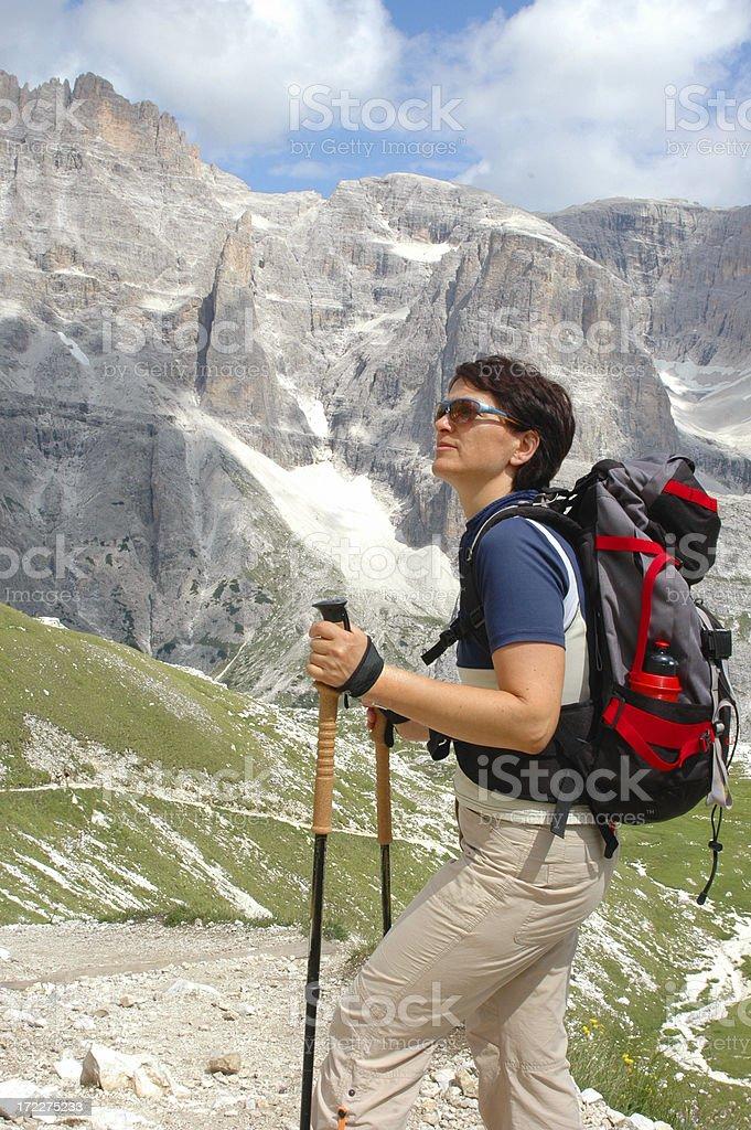 hiking vertikal stock photo