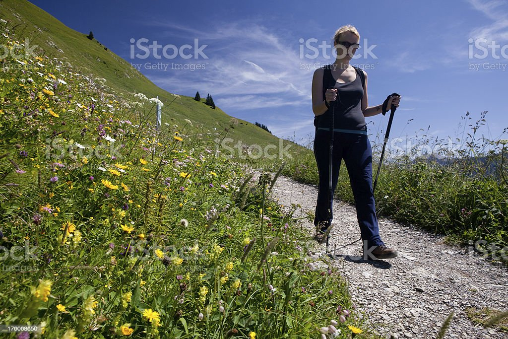 hiking women stock photo