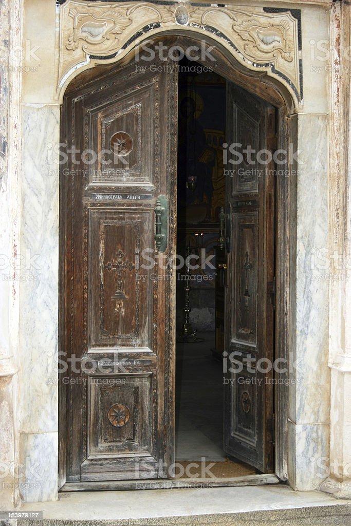 Hilandar Monastery royalty-free stock photo