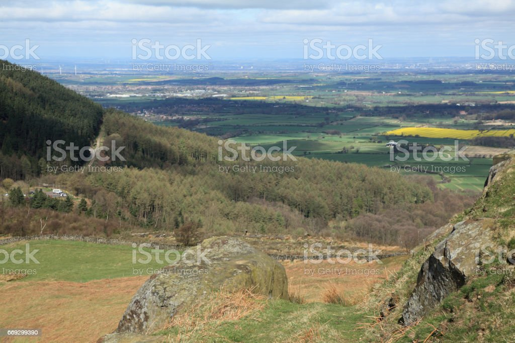 Hill and plain stock photo