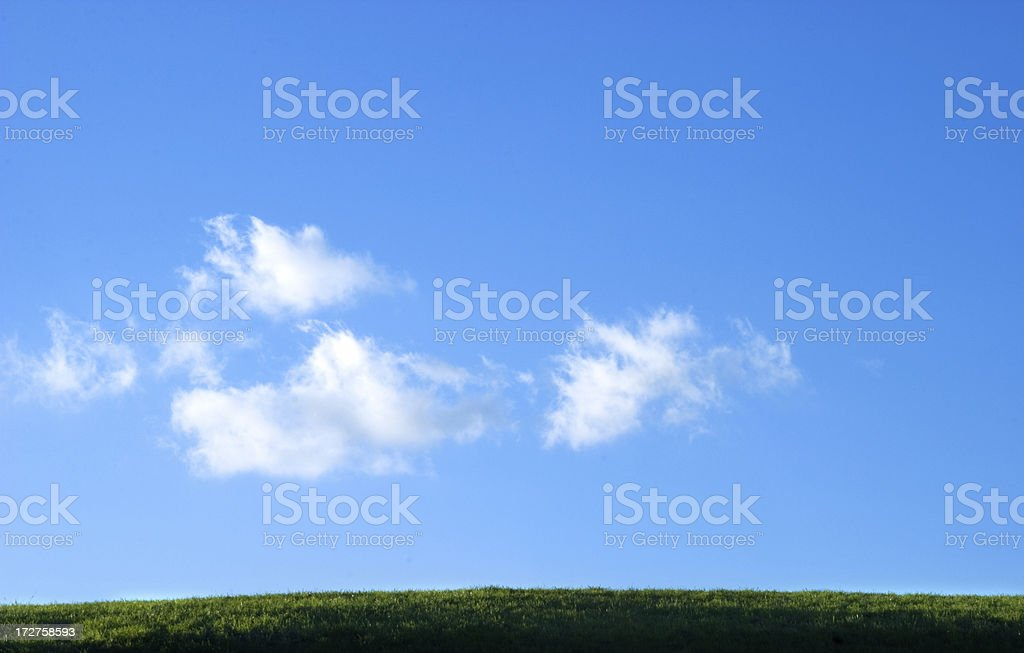 Hill and Sky royalty-free stock photo
