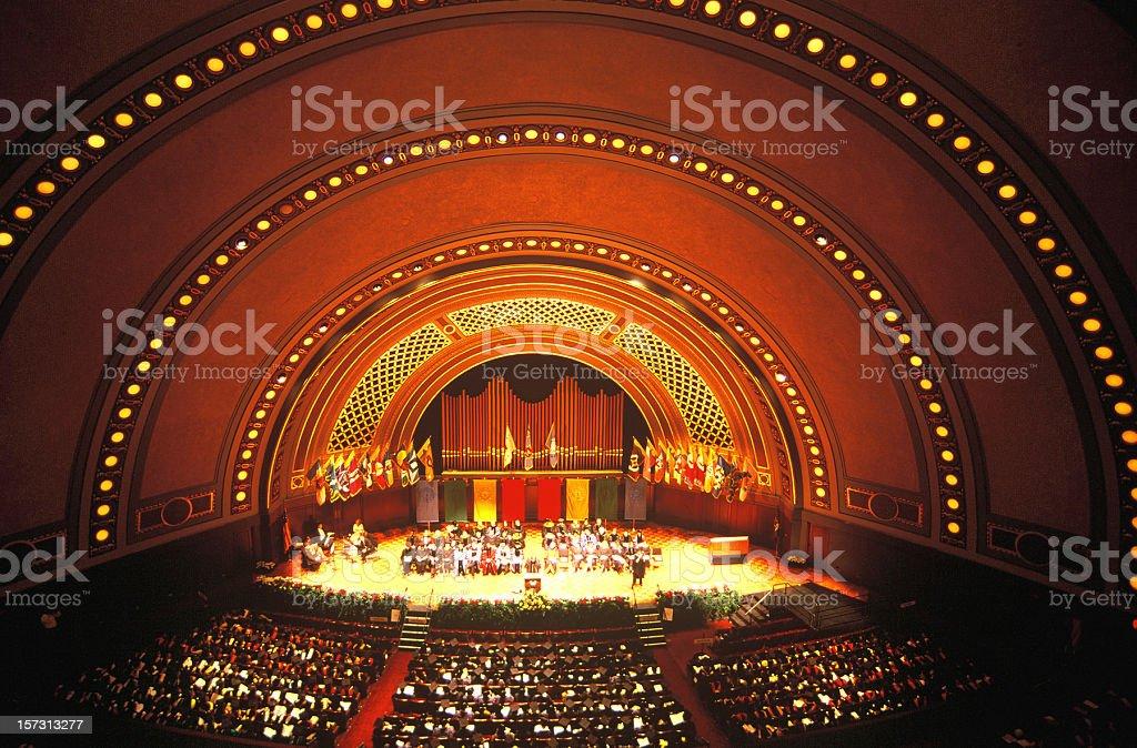Hill Auditorium /Concert Hall, University of Michigan stock photo