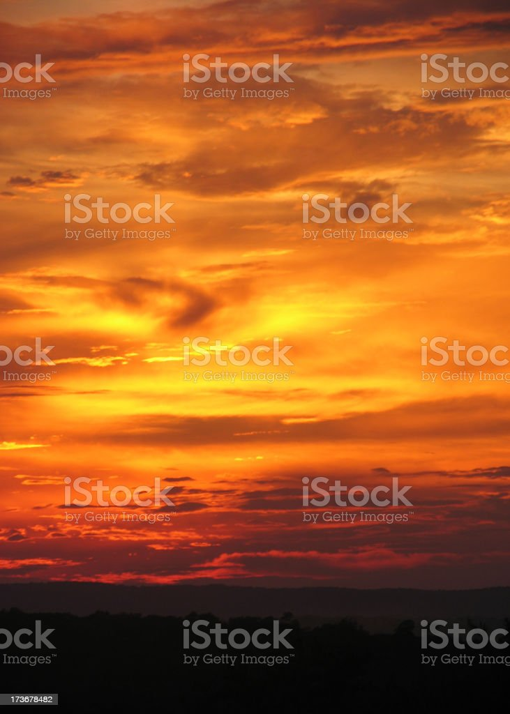 Hill Country Sunset royalty-free stock photo