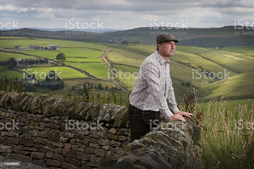 hill farmer stock photo