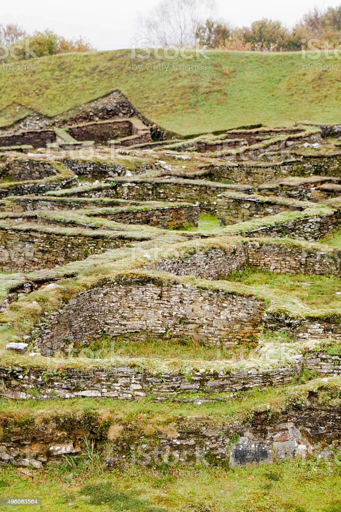 Hill fort 'Castro' of Viladonga, Lugo, Galicia, Spain. stock photo