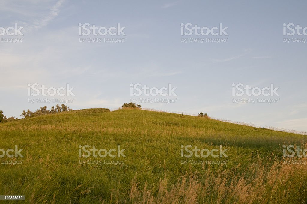 Hill in Iowa royalty-free stock photo