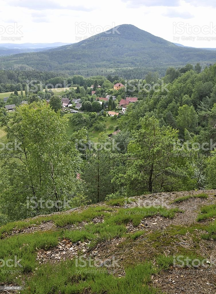 Hill in the Czech Switzerland royalty-free stock photo