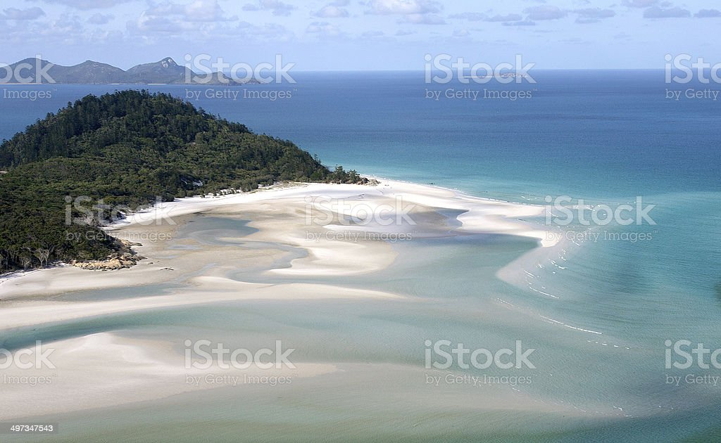 Hill Inlet at Whitehaven Beach, Queensland royalty-free stock photo