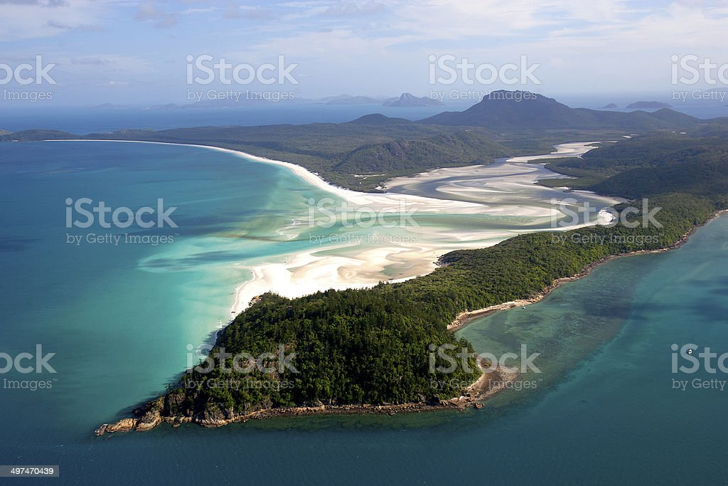 Hill Inlet, Whitehaven Beach, Whitsunday Island, Queensland, Australia royalty-free stock photo