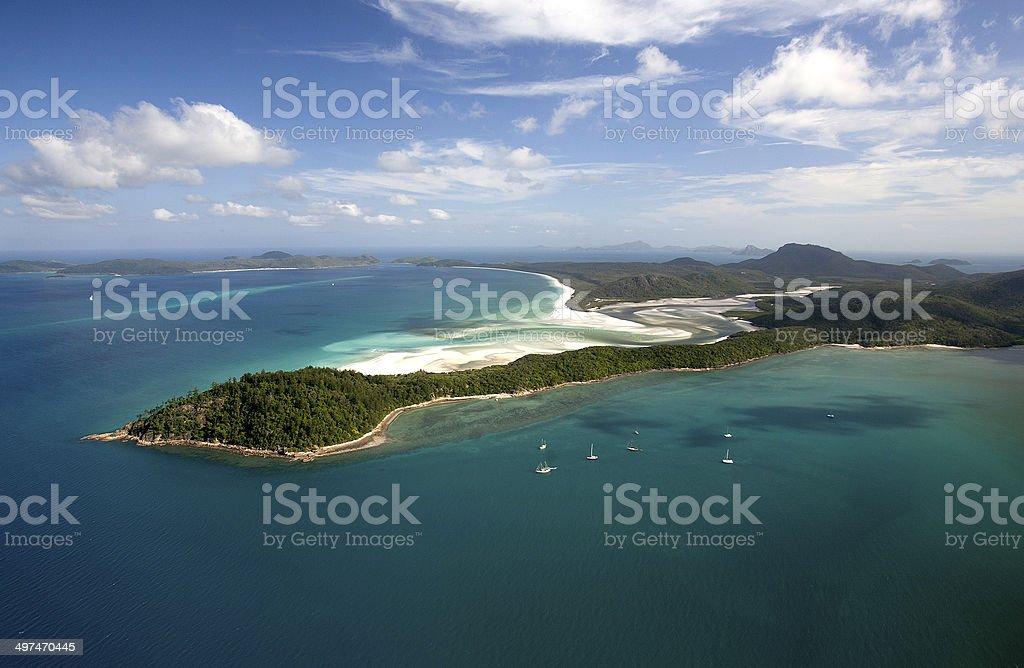 Hill Inlet, Whitehaven Beach, Whitsunday Island, Queensland, Australia royalty-free stock photo