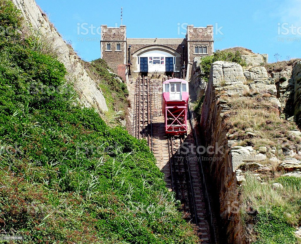 Hill Lift in Hastings stock photo