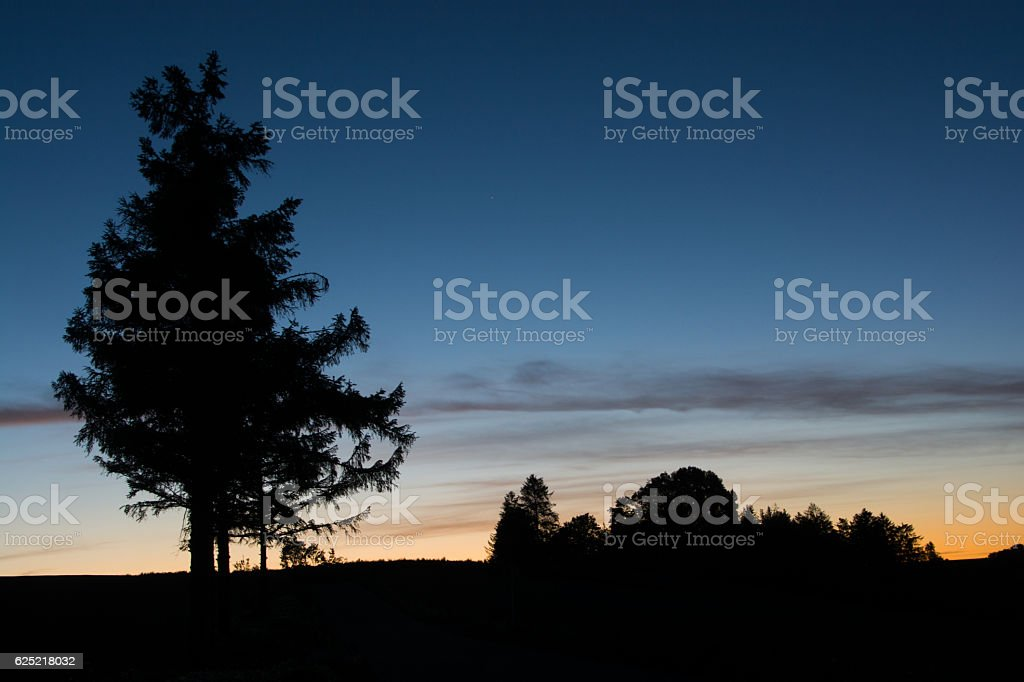 Hill of dusk stock photo