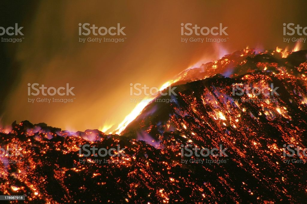 Hill of Fire royalty-free stock photo