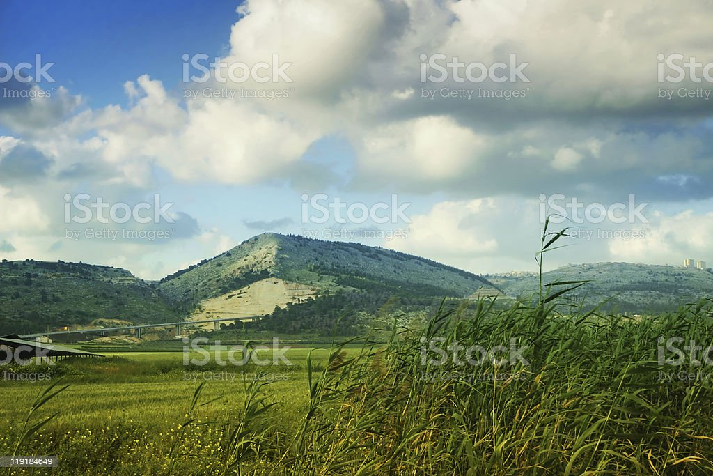 Hill of Nazareth stock photo
