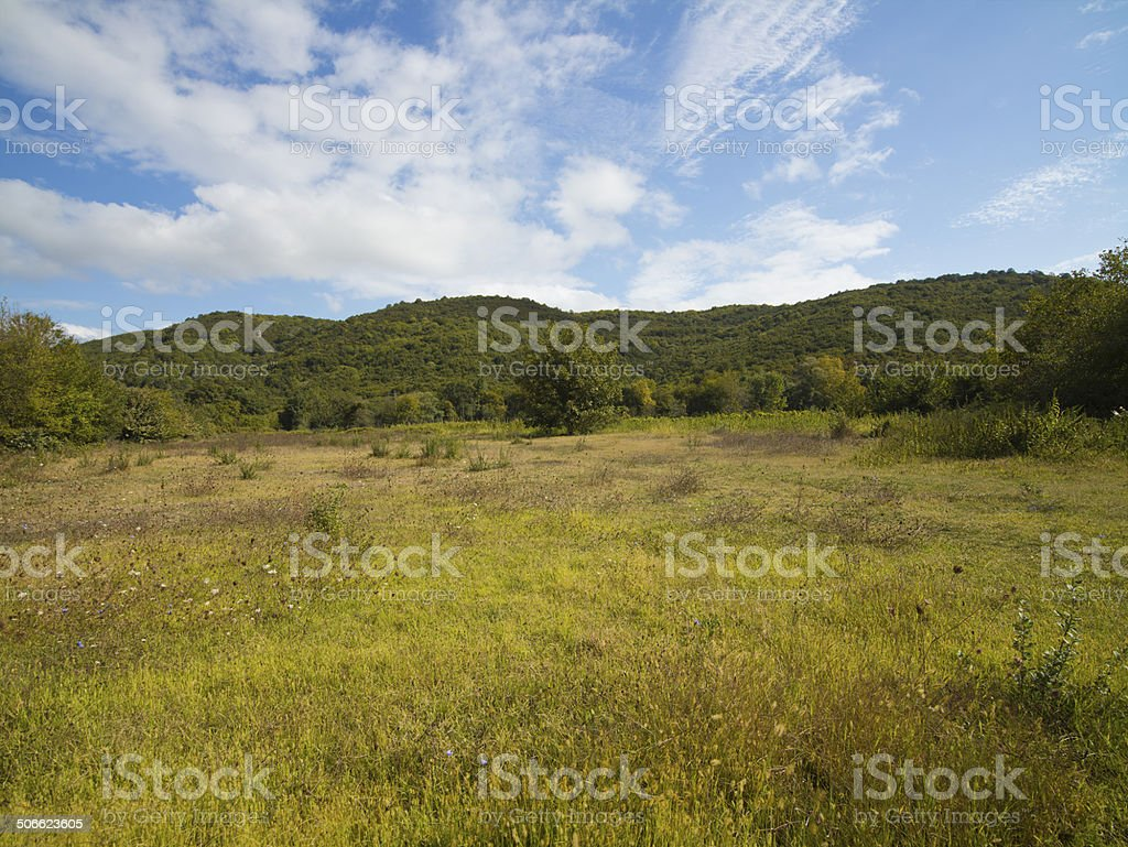 Hill Over Land royalty-free stock photo