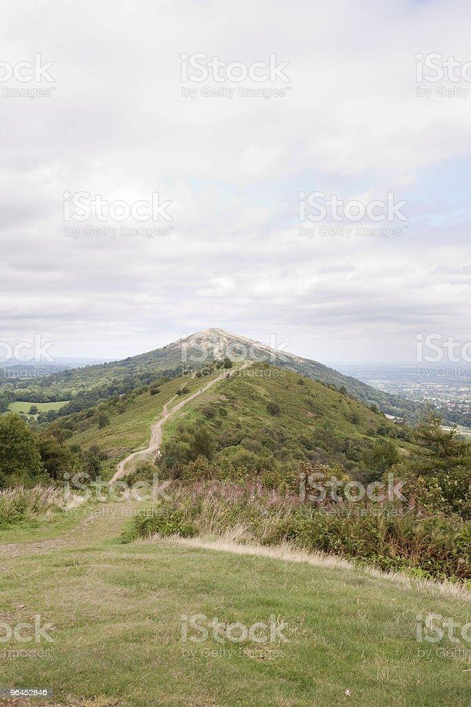hill path stock photo