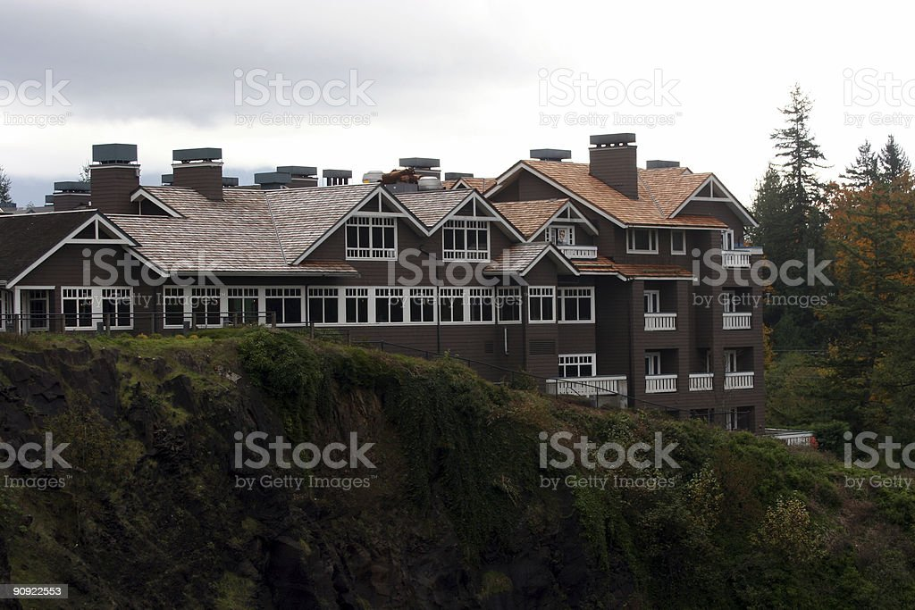 Hill side resort royalty-free stock photo