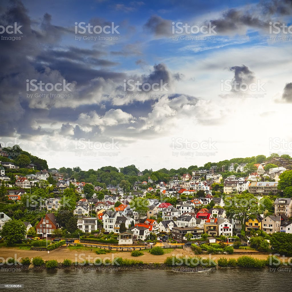 Hill S?llberg in Blankenese - suburban quarter of Hamburg stock photo